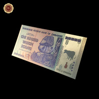 Value Collectable Banknotes Zimbabwe Colorful Gold Banknote One Hundred Trillion Dollar Souvenir Gifts