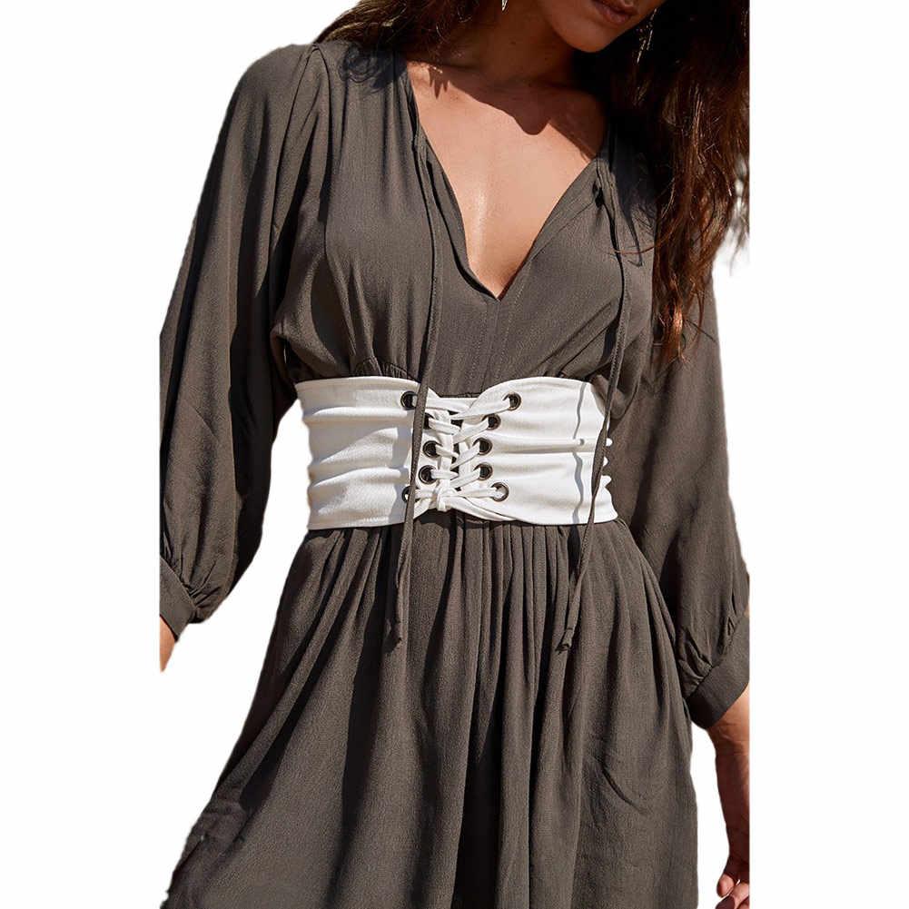 62ad424afa ... Vintage Black Lace Up Corset Bandage Women Waist Belt Shape-Making  Midriff-Cinchers Plus ...