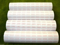 White W Red Line 40 X 500 Tags Labels Refill For MX 5500 One Line Price