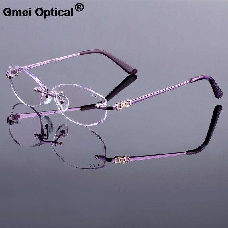 Voga occhiali donne di marca occhiali da vista telaio senza montatura occhiali ottici moda occhiali Oculos de grau telaio miopia