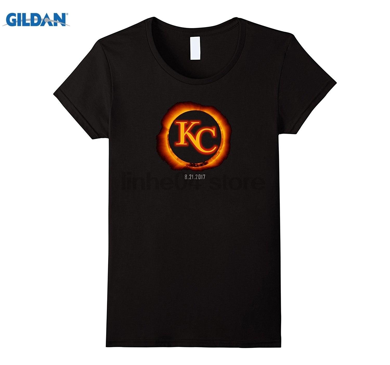 GILDAN Kansas City Missouri Total Eclipse T-Shirt Solar Eclipse Tee Hot Womens T-shirt