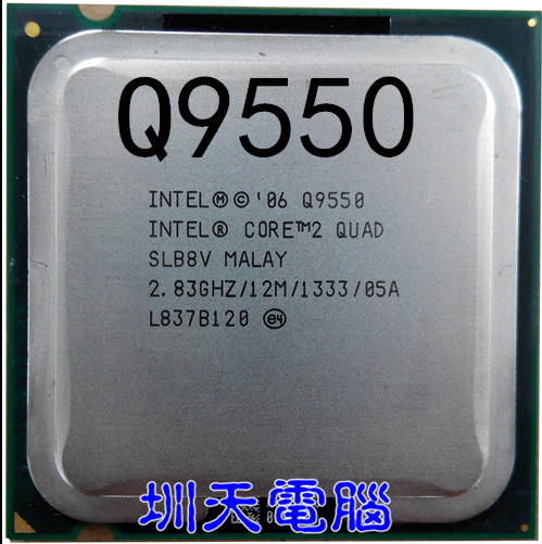 Lntel Q9550 CORE 2 QUAD CPU Processor 283GHz 12MB L2 Cache FSB 1333 LGA 775 Can Work In CPUs From Computer Office On Aliexpress