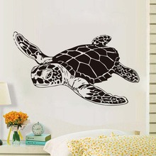 Art Design Home Decor Large Sea Turtle Vinyl Wall Sticker For Bathroom Animal Wall Art Decoration Nursery Decals