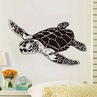 Art Design Home Decor Large Sea Turtle Vinyl Wall Sticker For Bathroom Animal Wall Art Decoration Nursery Decals