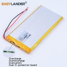 10pcs/Lot 7565121 3.7V 8000mAh Rechargeable li Polymer Li-ion Battery For PAD E-Book GPS PSP DVD Power bank Tablet PC Laptop