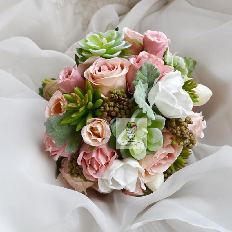 Handmade Wedding Bouquet Flowers Bridesmaid Bridal Bouquet White ...