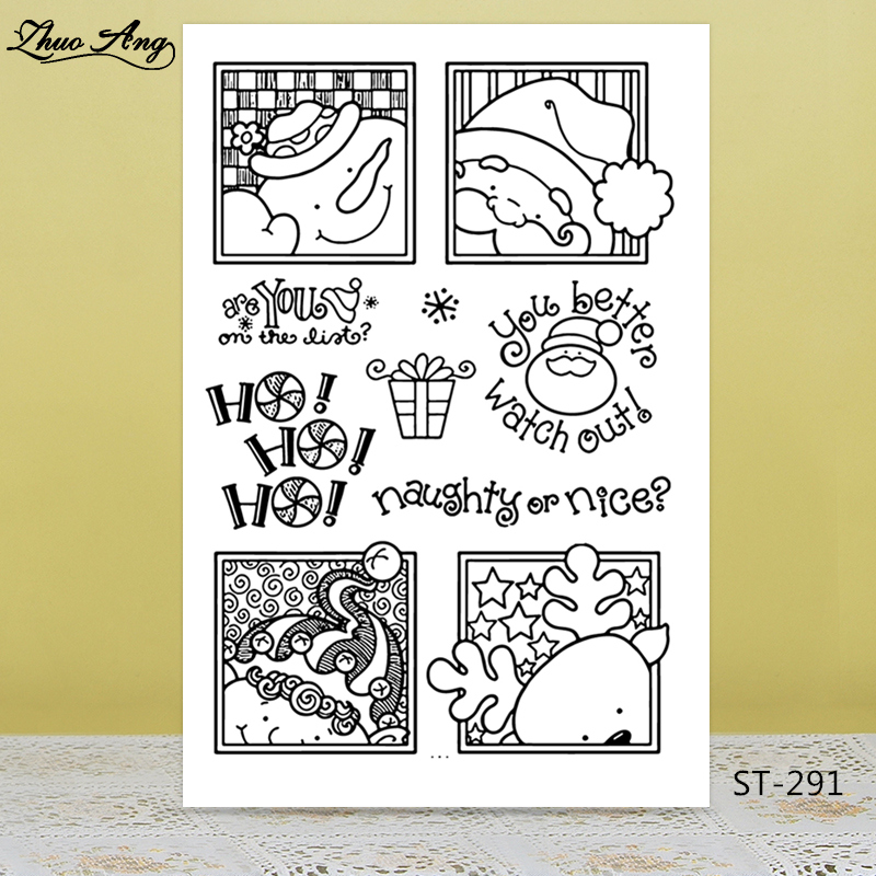 ZhuoAng Cute Christmas Snowman Santa Claus Clear Stamps