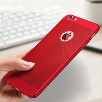 case iphone 5 Ultra Slim Phone Case For iPhone XS MAX XR X 6 6s 7 8 Plus Hollow Heat Dissipation Cases Hard PC For iPhone 5 5S SE Back Cove (3)