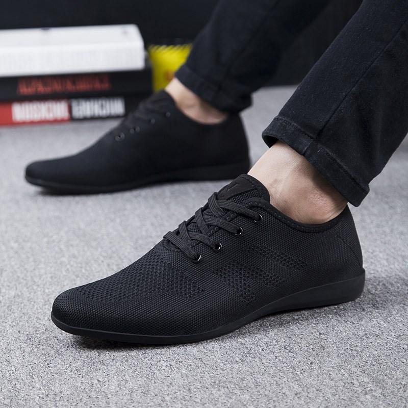 Image 3 - Hot Summer Men Shoes Breathable Men Casual Shoes Low Lace up Mesh Male Shoes Comfortable Flat Shoes For Men Zapatillas Hombre-in Men's Casual Shoes from Shoes