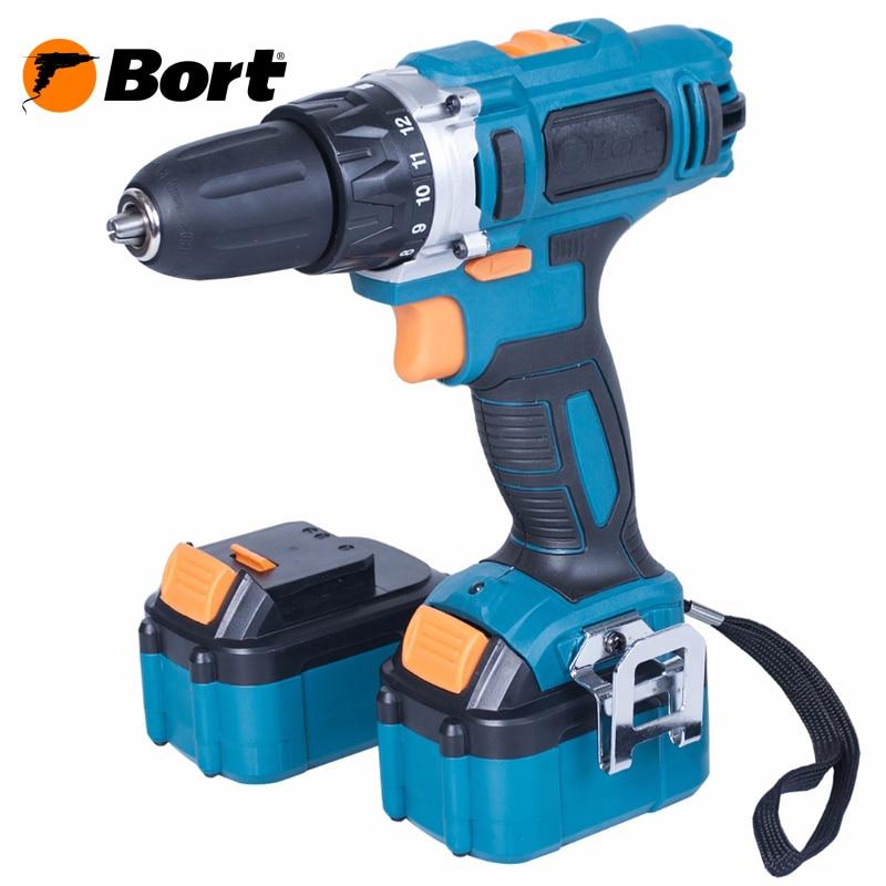 Cordless Drill/Driver Bort BAB-18x2Li-XDK 10pcs pcb print circuit board drill bit carbide micro drill bits engraving tool 0 1mm to 1 0mm r02 drop ship
