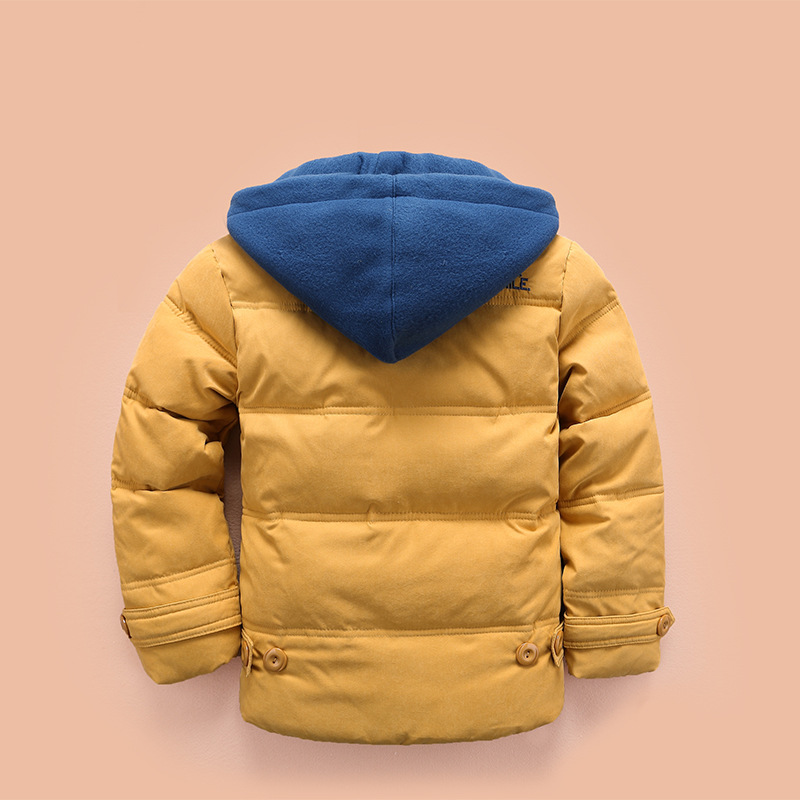 children Down & Parkas 4-10T winter kids outerwear boys casual warm hooded jacket for boys solid boys warm coats 2021 2