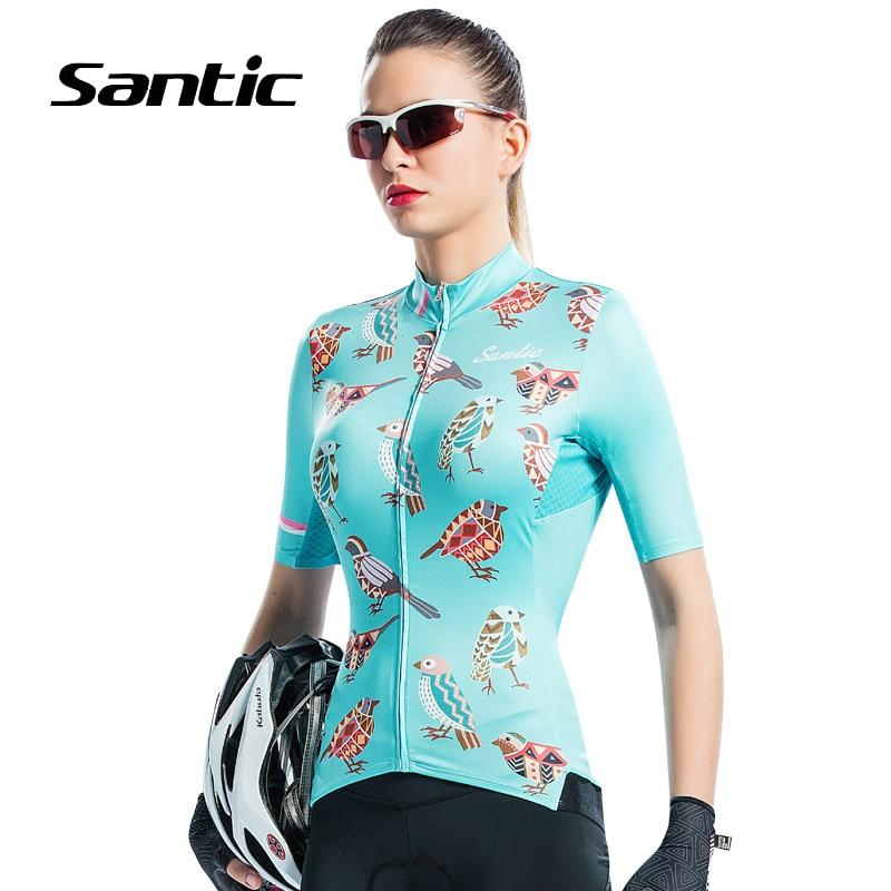 Santic femmes cyclisme Jersey 2018 à manches courtes séchage rapide vélo vêtements Jersey vélo chemise respirant vêtements Maillot Ciclismo
