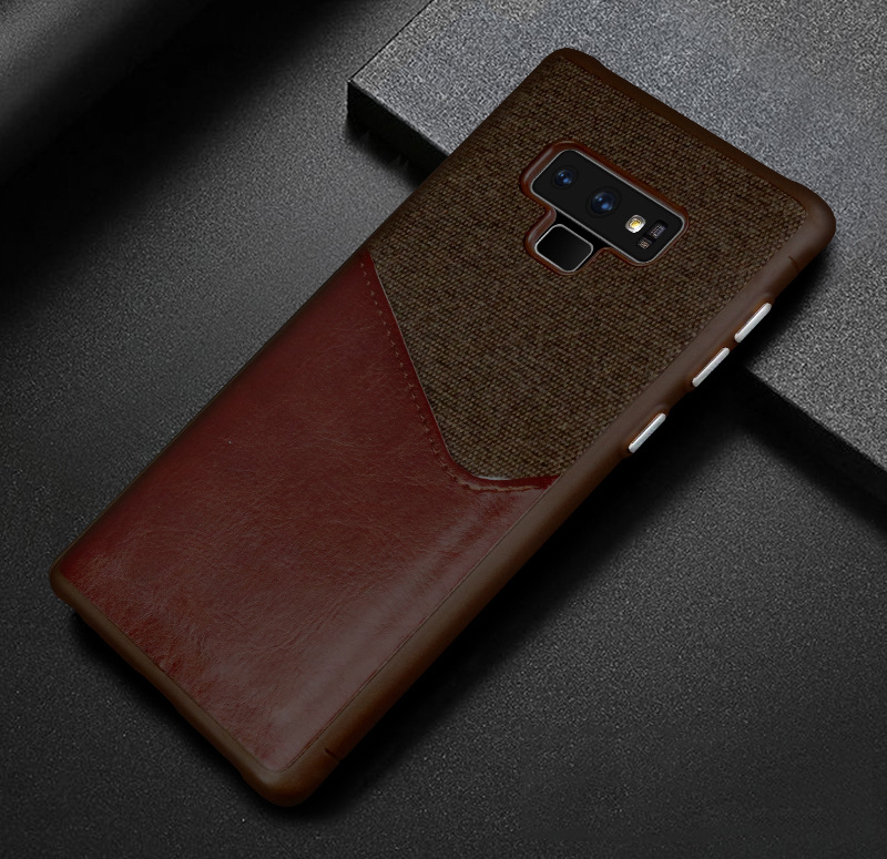 Luxury Business Cloth+leather Wallet Case for samsung note 9 8 with Card Pocket Cover for samsung galaxy S8 S9 Plus case Coque   (12)