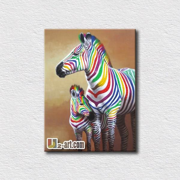 Zebra Leinwand Malerei Werbeaktion-Shop für Werbeaktion Zebra ...