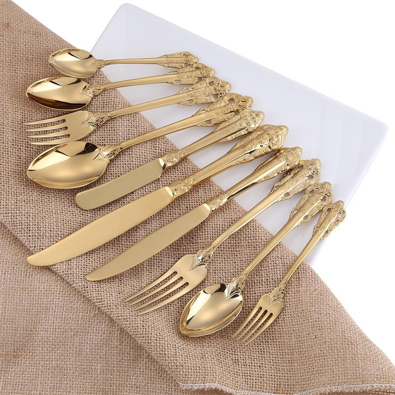 10pcs golden cutlery set  (6)