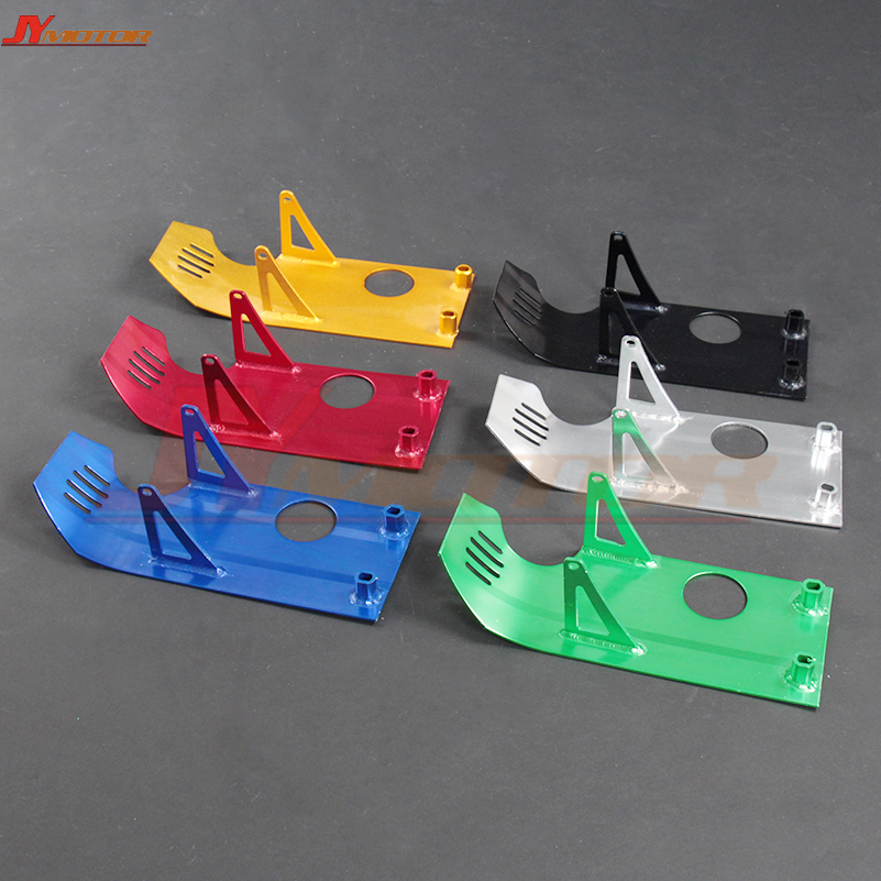 Aluminium Skid Plate Engine Case Protection special for XR50 CRF50 XR CRF 50 SDG SSR Coolster 70 90 110 <font><b>125CC</b></font> Pit <font><b>Dirt</b></font> <font><b>Bike</b></font> image
