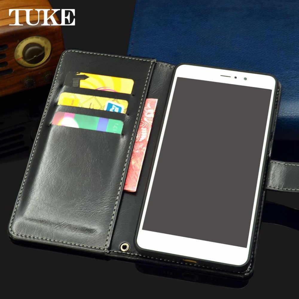 """توك محفظة قلابة النفط الشمع حقيبة جلدية طولية ل ZTE شفرة A521 غطاء حقيبة الهاتف الخمرية حالات ل ZTE A521 521 5.0 """"حامل بطاقة"""