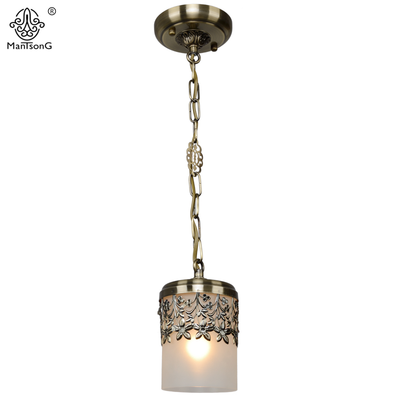 Classical Pendant Lights Lamp LED E27 Bulb Recommend  Vintage Dining Room Glass Shade Retro Style Bedroom Home Decor Lighting a1 master bedroom living room lamp crystal pendant lights dining room lamp european style dual use fashion pendant lamps