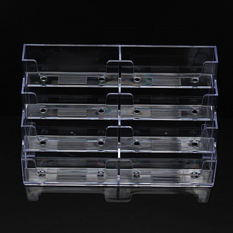 Kicute Modern Desktop Business Card Holder 8 Pockets Stand Clear Transparent Acrylic Counter Display Stand Office Home Supplies round blue desktop manual mini flip page calendar counter abs digital display day month perfect for the home or office