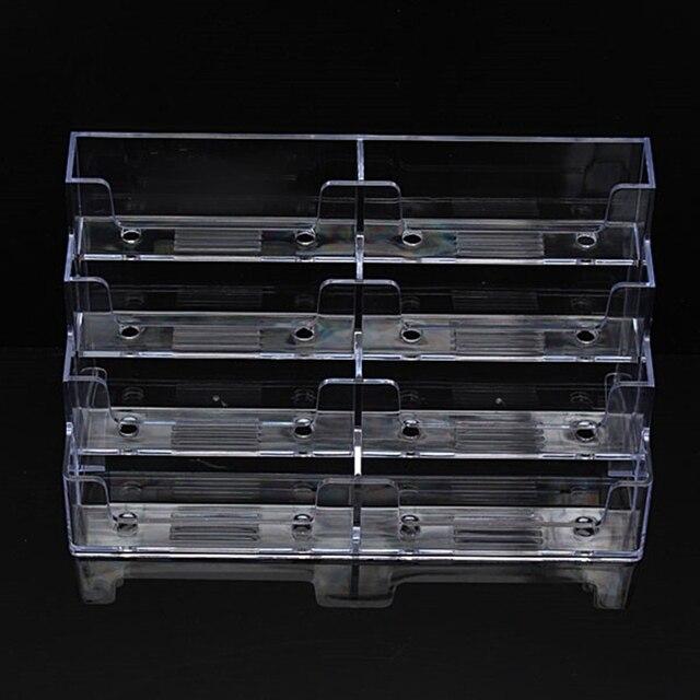 Us 4 98 20 Off Kicute Moderne Desktop Visitenkartenhalter 8 Taschen Stehen Klare Transparente Acryl Zähler Display Ständer Büro Zu Hause Versorgt In