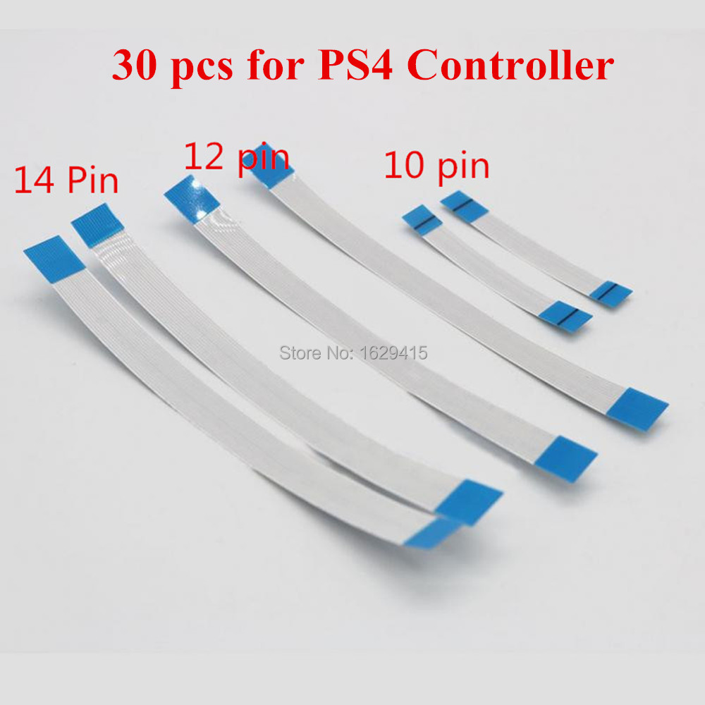 IVYUEEN 30 pcs Eject Power Button Ribbon 10 12 14 Pin Flex Cable for Sony PS4 Dualshock 4 PRO Slim Controller Repair Parts