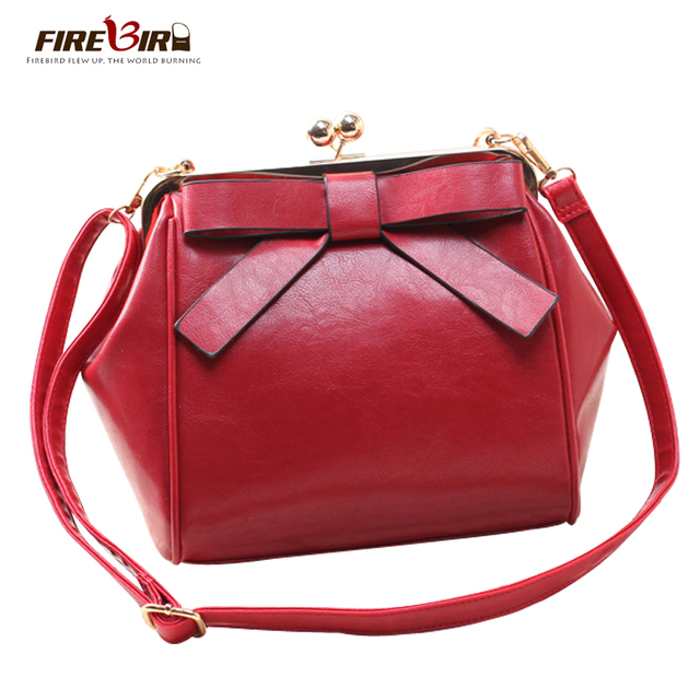 FIREBIRD!woman bags 2016 bag handbag fashion handbags Europe new bow shoulder Messenger Bag Women Handbag Solid handbag H200