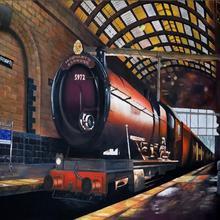 children kids background High quality Computer print Harry Hogwarts Express  Train Platform Model Railroad backdrop( fbc9b7d280f4