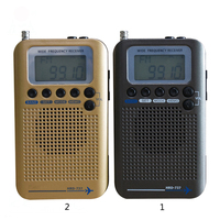 Full Band Radio Digital Demodulator FM/AM/SW/ CB/Air/VHF World Band Stereo Portable Radio With LCD Display Alarm Clock