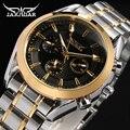 Jaragar Relógios Homens relógio Mecânico Automático relógio Dos Homens de Aço Inoxidável Relógios De Pulso de luxo da marca