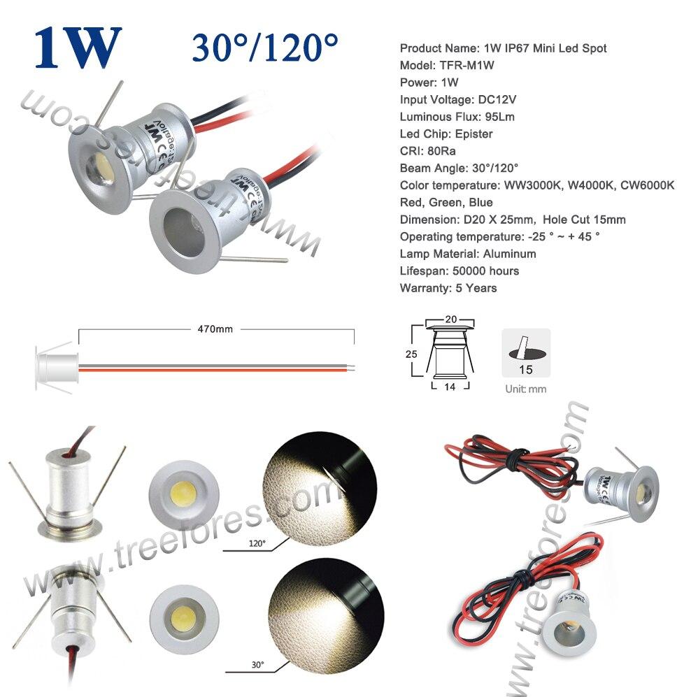 1 W IP65 12 V 15mm 25mm Mini Led Spot Exterieur Jardin Salle De Bain Couloir Plafond Ampoule SPA Sauna Lampe Declairage CE Dans LED Spots Lumieres