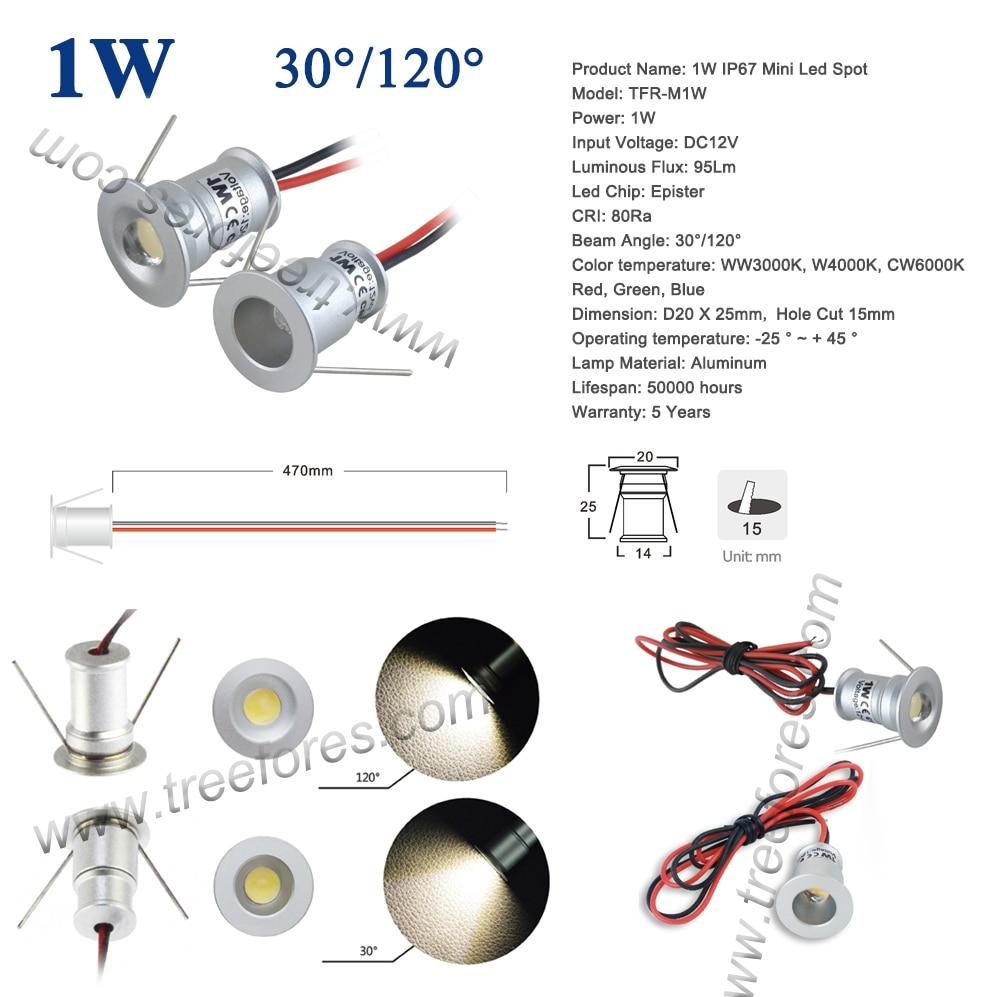 Best Price #2dd7 1W IP65 12V 15mm 25mm Mini LED Downlight