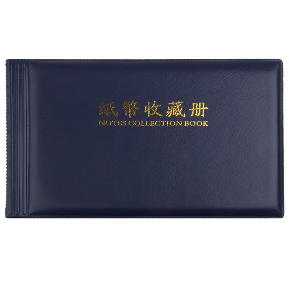 Banknote Currency Collectors Album Pocket Storage 30 Pages Royal blue
