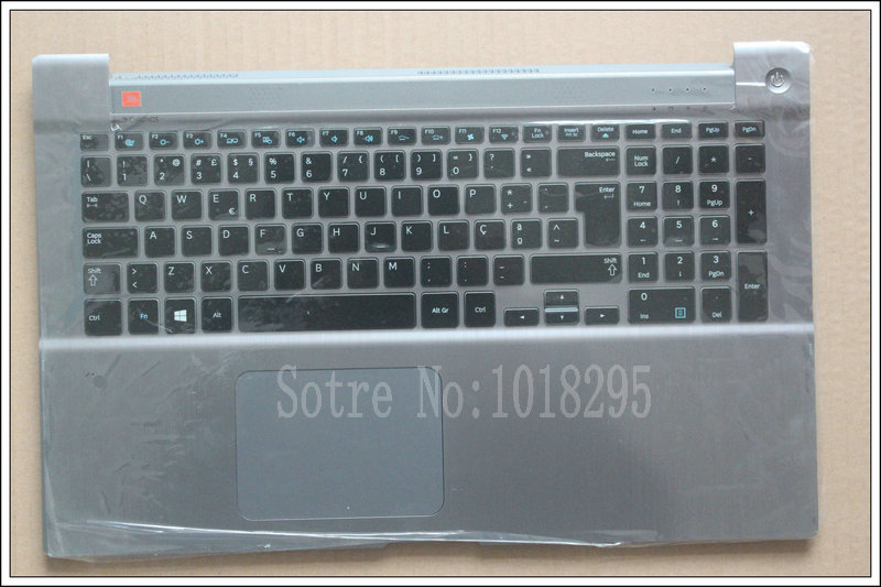NEW FOR Samsung NP700Z7A NP700Z7B NP700Z7C Backlit Portuguese PO Keyboard with Palmrest Touchpad cover BA73-03734C