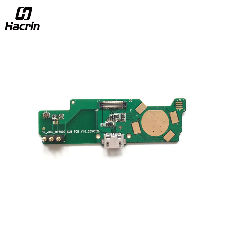 hacrin For Blackview BV6000 USB Board High Quality USB Charger Plug Board Parts Replacement For Blackview BV6000S Smartphone