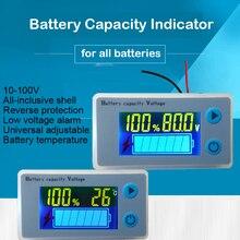 3 S 4S Poder Indicador de Capacidade Da Bateria de Lítio 6 S 7 S Lcd Sensor De Temperatura Alarme 12 V 16.8 V 29.4 V Lipo Metros JS C33
