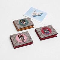 Small cute dog wallet clip genuine leather wallet for women men no zipper mini shout cartoon Card Holder