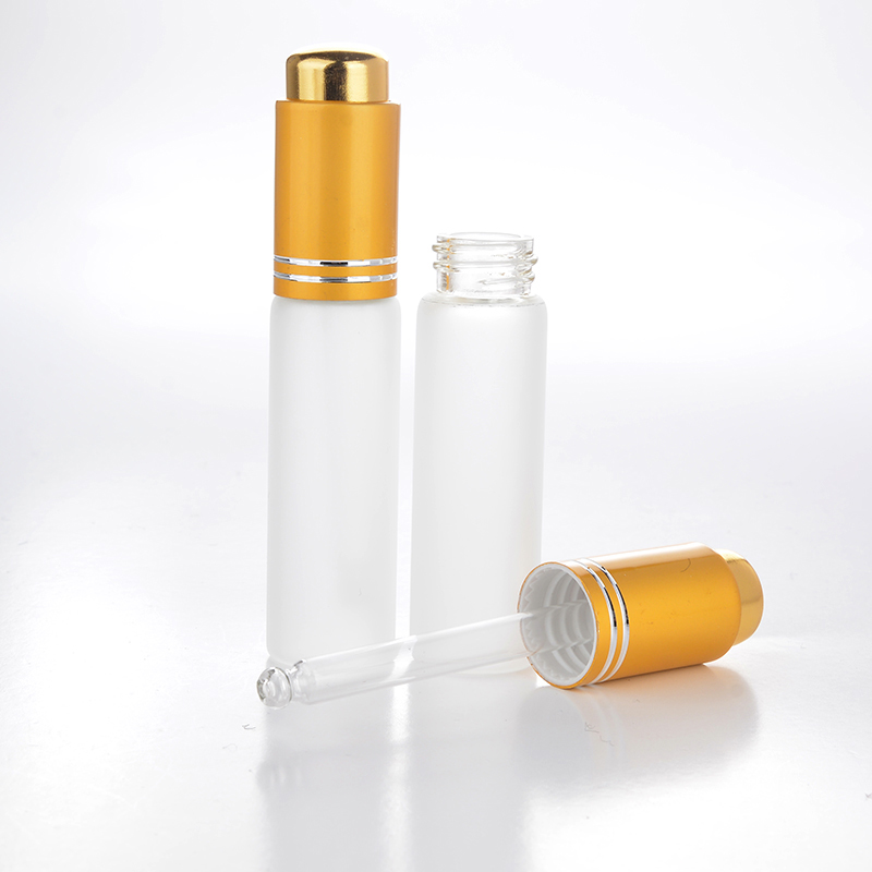 Wholesale 50 Pieces/Lot 20 ML Mini Portable Frosted Glass Refillable Perfume Bottle Empty Cosmetic Parfum Vial With Dropper-in Refillable Bottles from Beauty & Health    1