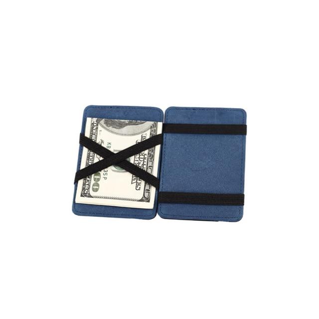 Splendid Yeni Tasarımcı Ünlü Marka erkek Erkekler Mini Nötr Eziyet Sihirli Bifold Deri Cüzdan Kart Tutucu Cüzdan çanta Adam
