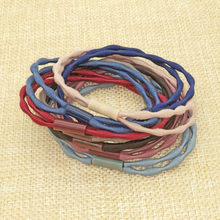 8 pcs/lot Double Layer Elastic Bands Ponytail Holder Rubber Hair Elastic Accessories for Girls Women Tie Gum