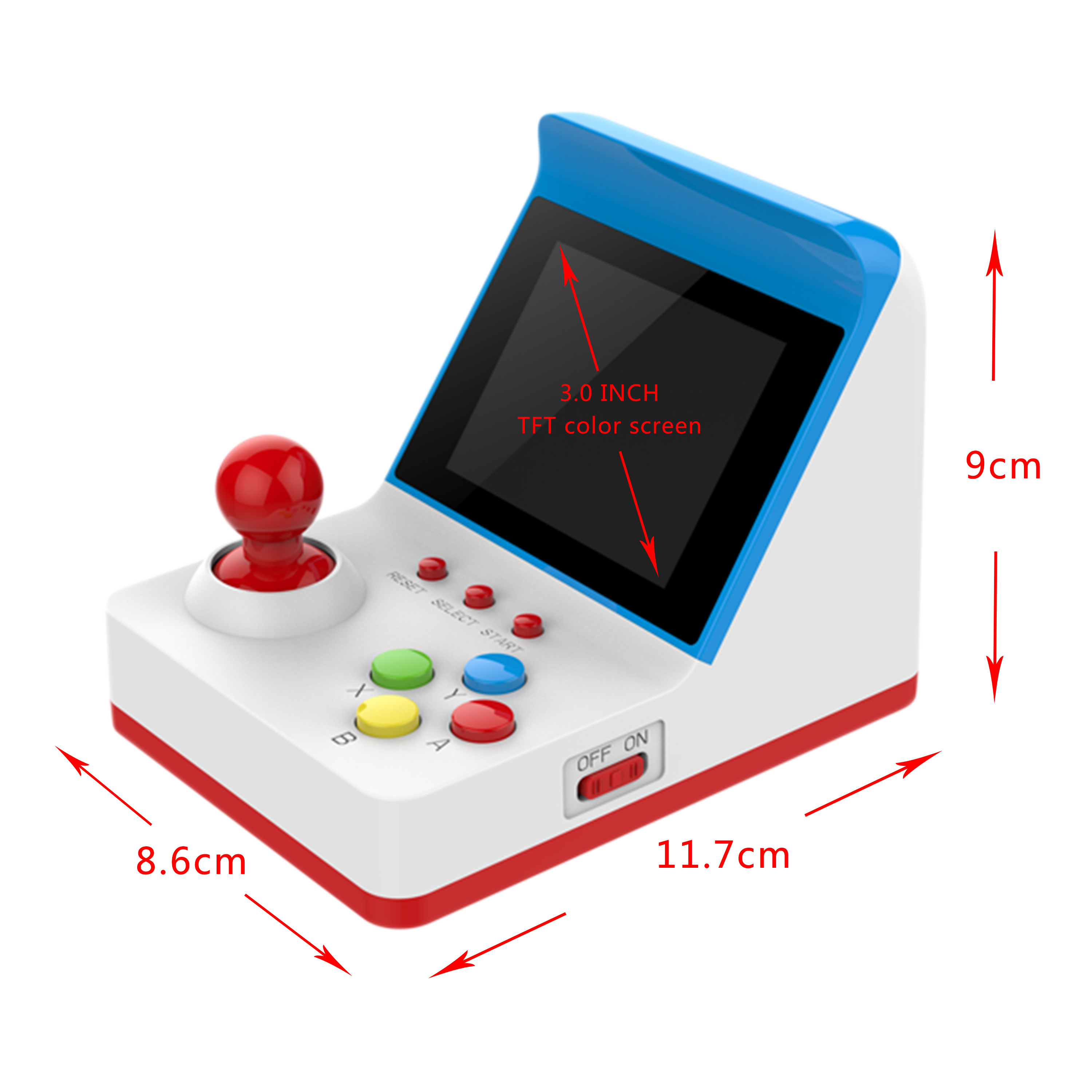 Image 3 - New Mini Arcade Machine 8 Bit Game Console with Two Free Gamepads 360 FC Games-in Handheld Game Players from Consumer Electronics
