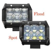 2Pcs Led Light Bar 30W 3000LM 6000K LED Work Light Bar Flood Spot Beam Spotlight Offroad