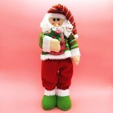 Hughina 2017 New Christmas Santa Claus Dolls Standing Navidad Figurine Christmas Home Ornaments Kids Christmas decoration Gifts