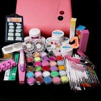 New Pro Pro 36W UV Dryer acrylic nail art set ,acrylic nail kit ,kit nail gel ,kit Gel nails set with lampPro 36W