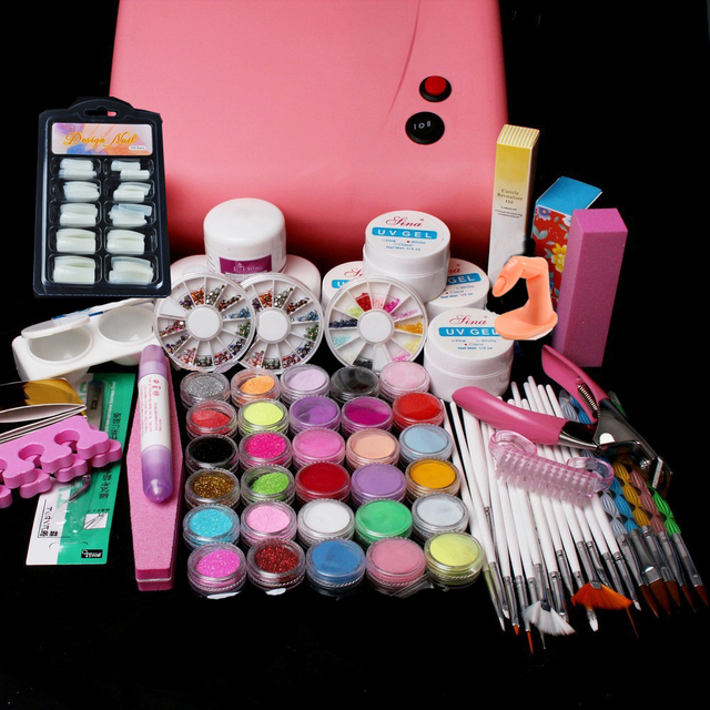 New Pro Pro 36W UV Dryer acrylic nail art set ,acrylic nail kit ,kit ...