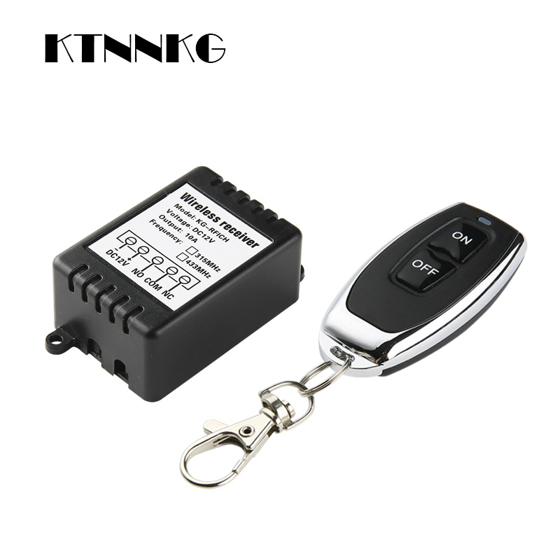 DC12V 1Gang Smart Home Relay Module Wireless Light Switch Kit Universival Receiver And Remote Control Transmitter Drop Shipping