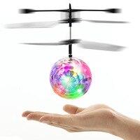 New arrival kids đồ chơi Điện Điện Tử Đồ Chơi Bay Trực Thăng Bóng ma thuật UFO Bóng máy bay với Đèn Flash Đầy Màu Sắc và âm nhạc