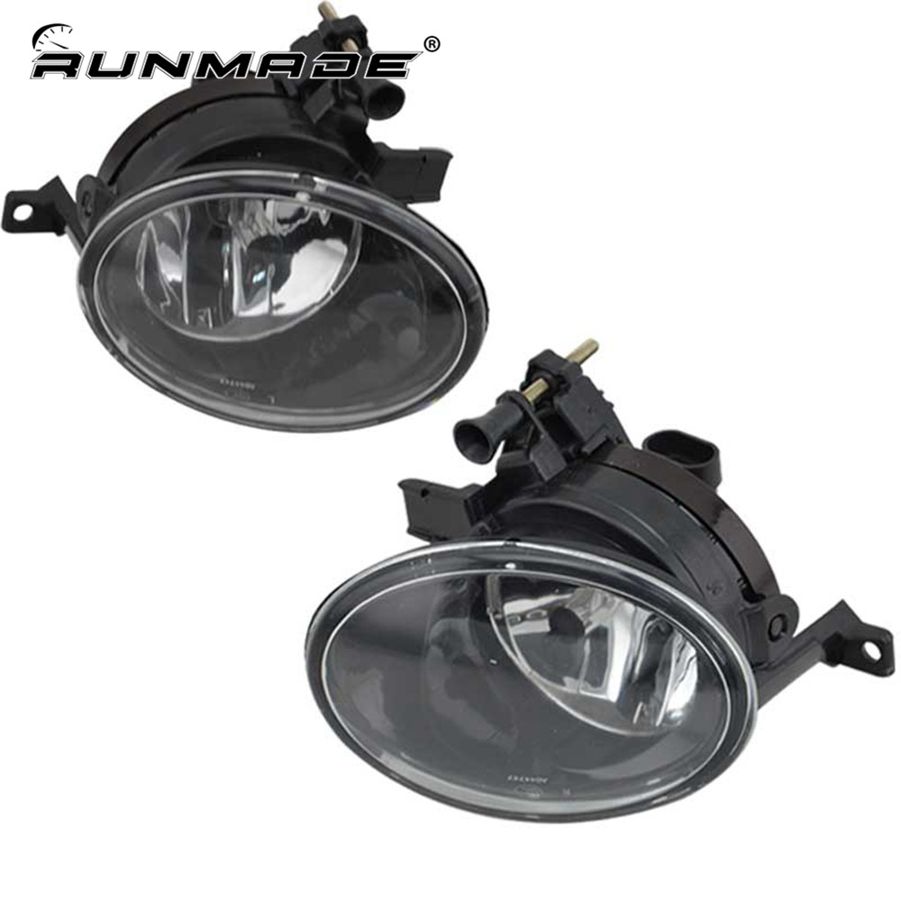 runmade For VW Golf Mk6 GTi 2010 2011 2012 2013 Fog Lamps Clear Lens 9006 Bulbs Left & Right Side Fog Light for vw golf 6 gti 2009 2010 2011 jetta 6 gli 2011 2012 2013 2014 new front right halogen new fog lamp fog light car styling