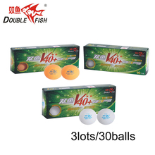 Genuine 30balls DOUBLE FISH Volant V40+ 2 Stars Table Tennis Balls  ABS polymer Ping pong Ball Approve by ITTF Training Ball