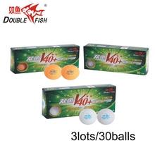 цена на Genuine 30balls DOUBLE FISH Volant V40+ 2 Stars Table Tennis Balls  ABS polymer Ping pong Ball Approve by ITTF Training Ball