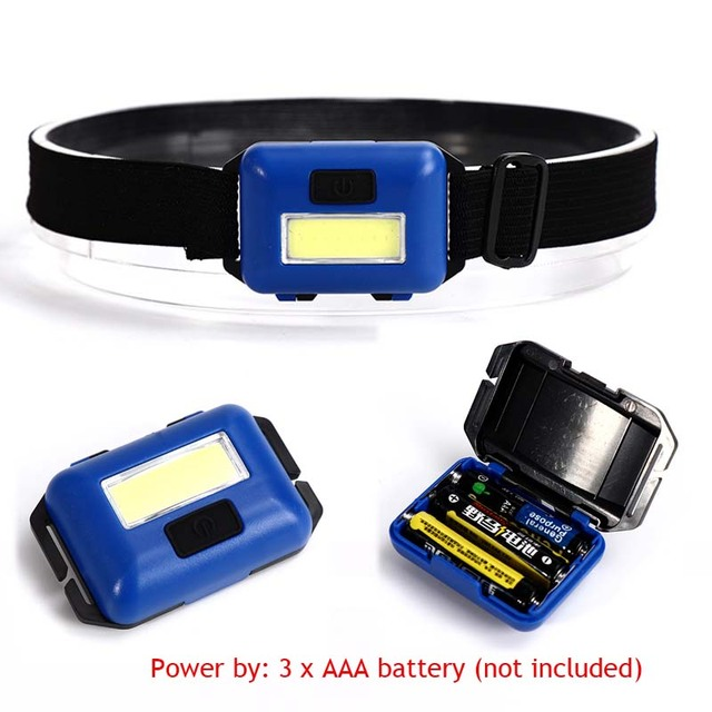 Açık Su Geçirmez COB LED Far Far 3 Modu kask lambası Lambası Torch için Koşu Kamp Yürüyüş Balıkçılık ile Kafa Bandı